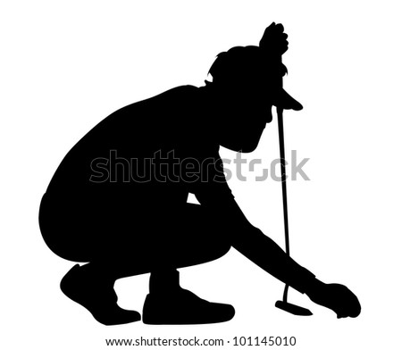 golf shot - stock photo