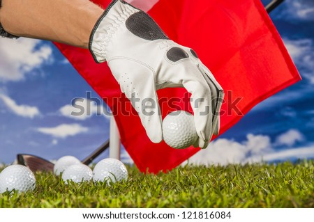 Golf theme with vivid colors
