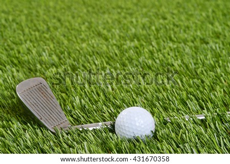 golf wedge club with ball