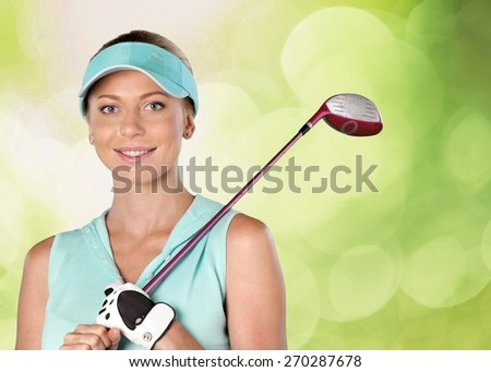 Golf, Women, Female. - stock photo