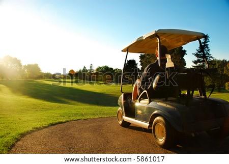 golfcart - stock photo