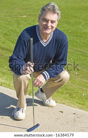 Golfer with a Putter