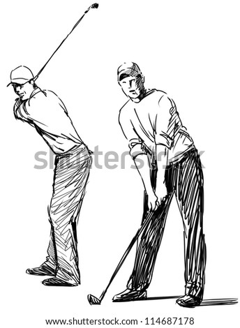 golfers - stock photo