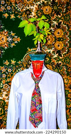 GOMEL, BELARUS - AUGUST 23, 2014: Tie Christian Lacroix.Christian Marie Marc Lacroix is a French fashion designer. - stock photo