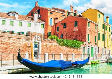 Gondola in Venice Italy. - stock photo