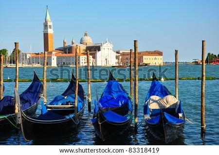 Gondola Parking, Venice - Italy - stock photo