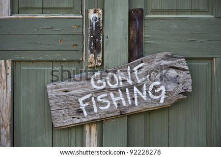 Gone Fishing. - stock photo