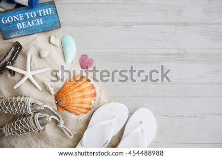 Gone to the Beach Summer Holiday Vacation Starfish Concept - stock photo