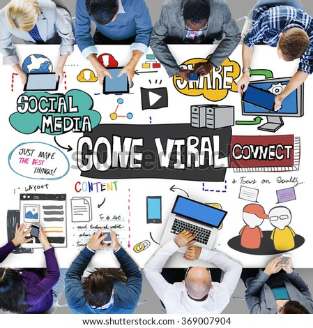 Gone Viral Multimedia Internet Virtual Content Concept - stock photo