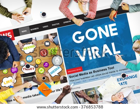 Gone Viral Online Marketing Sharing Concept - stock photo