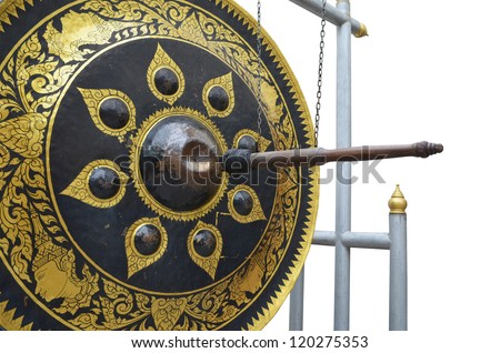 Gong on white background