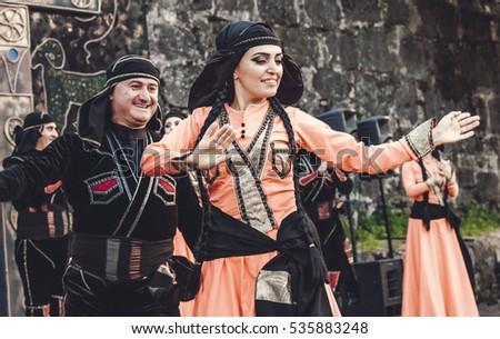 Medieval folk dancing