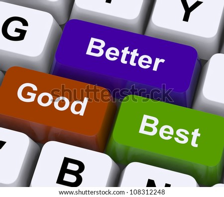 Good Better Best Keys Representing Ratings And Improvement