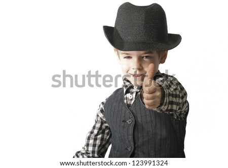 Good business from little child - stock photo