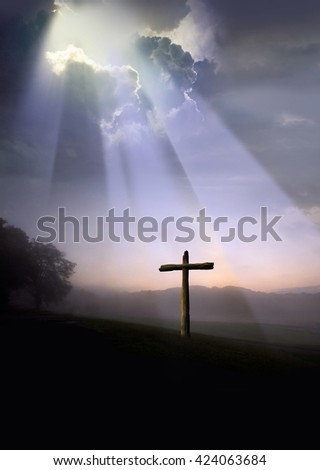 Good Friday Cloudscape - stock photo
