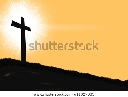 Good Friday Holy Cross with a Halo in Background Illustration as a Symbol of Religion and Faith for Christianity