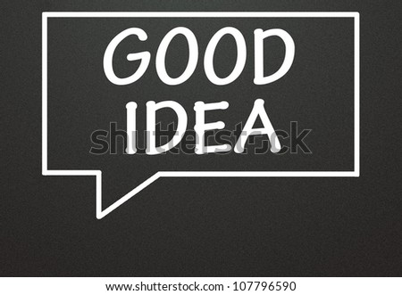 good idea and chat symbol - stock photo