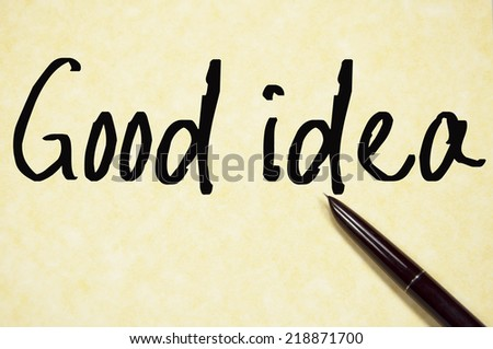 good idea text write on paper  - stock photo