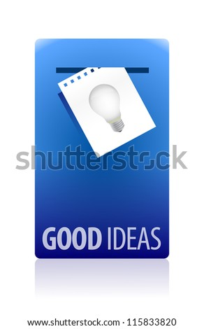 Good ideas booth illustration design over white background - stock photo