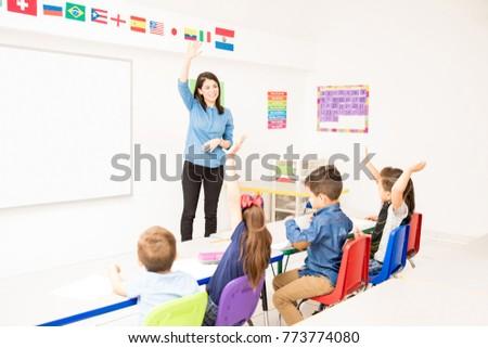 Student Asking Teacher For Help