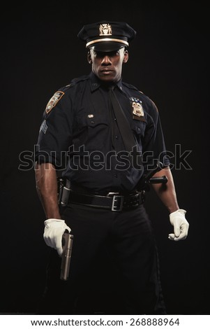 Good looking policeman - stock photo