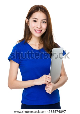 Good looking woman relaxing with her laptop