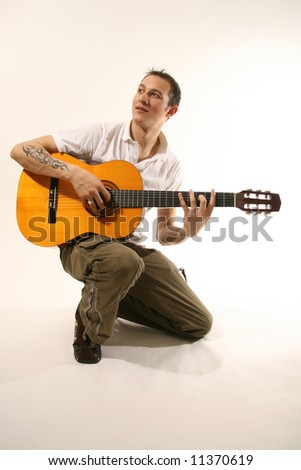 Good Looking Young in Studio Man - stock photo