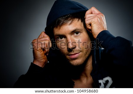 Good looking young male - stock photo