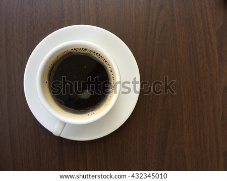 good morning Back Coffee cup in coffee shop - vintage style effect picture - stock photo