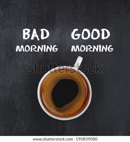 good morning coffee - stock photo