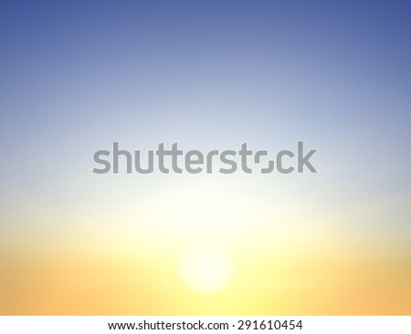 Good morning with blurry clouds and sun. - stock photo