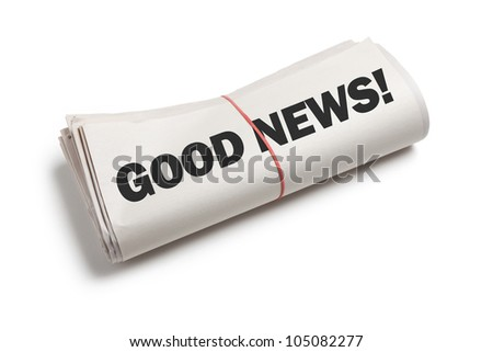 Good News, Newspaper roll with white background