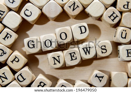good news word concept - stock photo