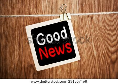 Good News written on chalkboard - stock photo