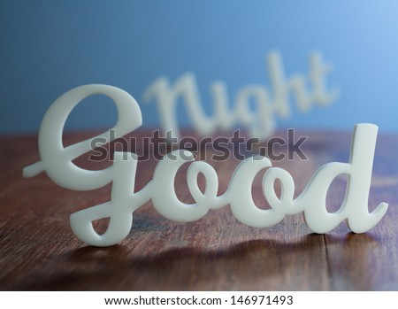 Good Night with Blue Light Background.