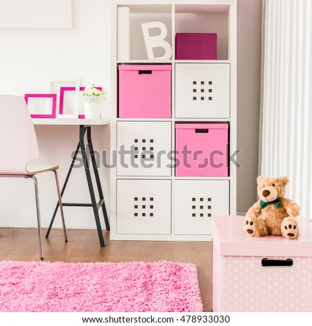 Good Organized Shelves Cute Modern Study Stock Photo & Image ...