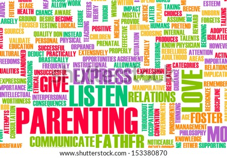 Good Parenting and Practices of Being in a Family - stock photo