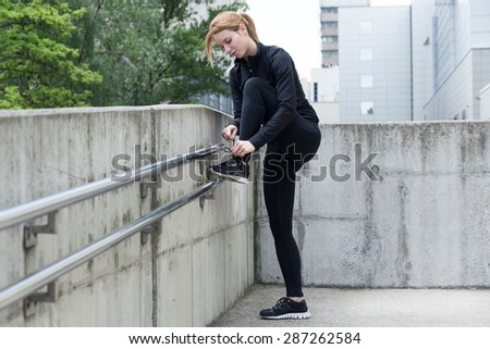 Good preparation before running is necessary  - stock photo