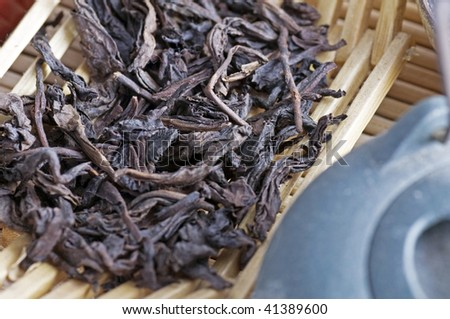 Good quality of chinese tea - stock photo