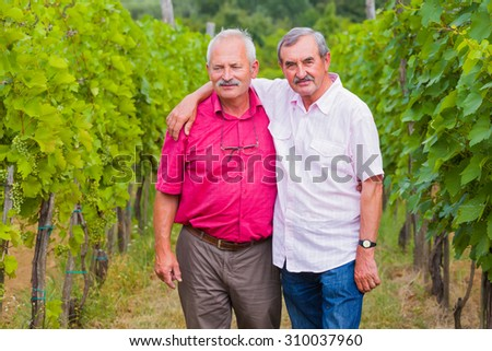 Good senior friends meeting after a long time. - stock photo