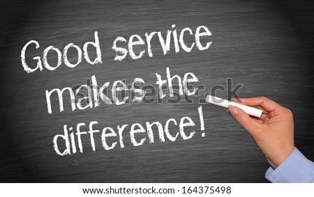 Good service makes the difference ! - stock photo