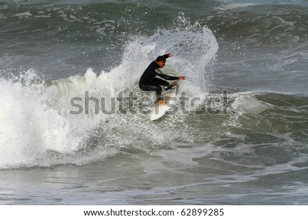 good surfer in action on a nice wave