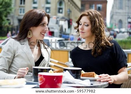 good time with a friend - stock photo