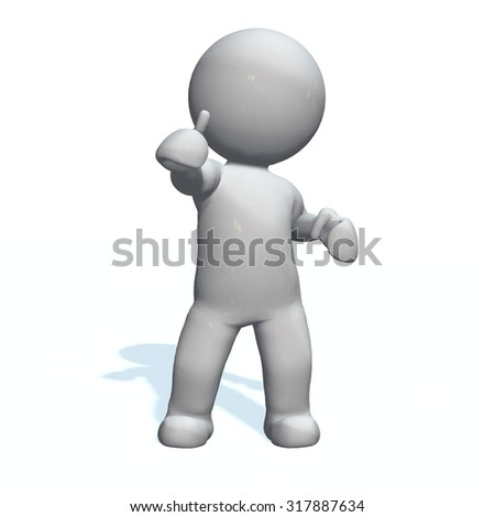 good yes - 3D People isolated - stock photo