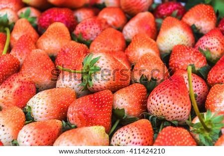 goods strawberries,strawberries,red strawberries - stock photo