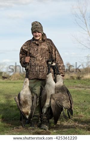 Goose Hunter - stock photo
