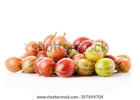 Gooseberries close up - stock photo