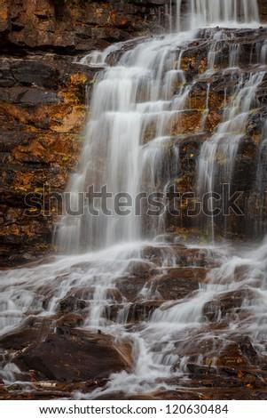Gooseberry Falls, North Shore of Lake Superior, Minnesota - stock photo