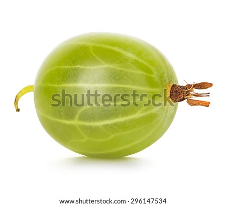 Gooseberry isolated on white background - stock photo