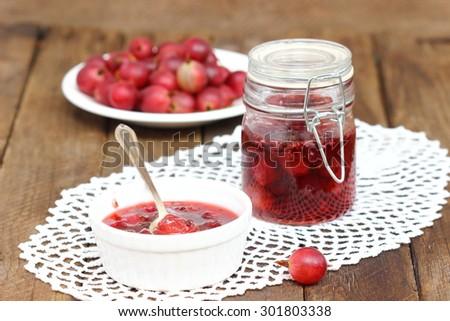 Gooseberry jam - stock photo